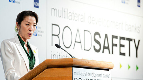 Michelle Yeoh, NYC Mayor Bloomberg Boost Road Safety Initiative