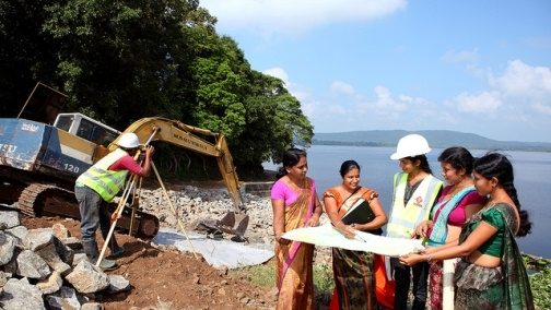 Dam under construction in Sri Lanka