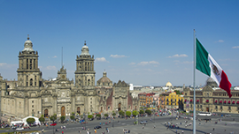 A view of the Zocalo in Mexico City, Mexico. - Photo: Shutterstock