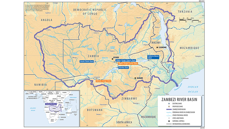 Zambezi River On Map Of Africa.Collaborative Management Of The Zambezi River Basin Ensures Greater