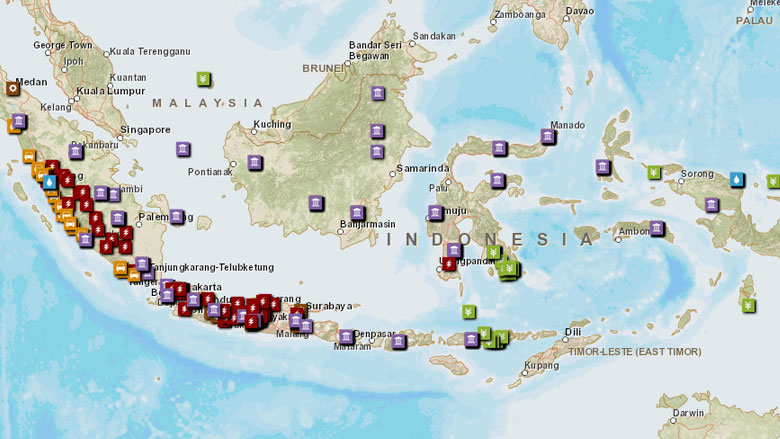 Indonesia Projects Programs - Indonesia maps with countries