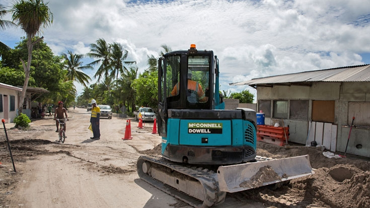 Rehabilitating Kiribati's Main Road Network