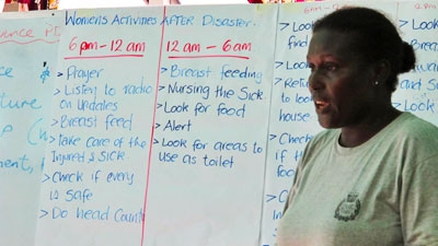 Workshops on gender in emergencies are helping the country develop a better disaster risk management plan to meet the different needs of its population.