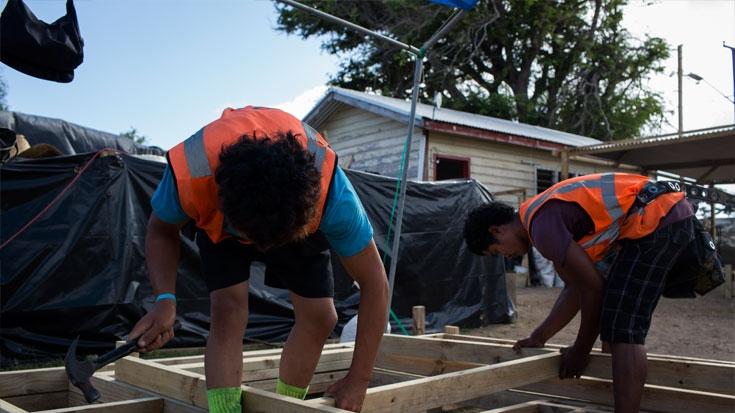 After Cyclone Ian Tonga Build Back Better Homes