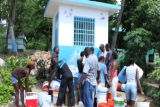 People fetching water in Haiti