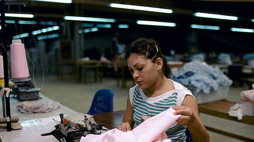 Factory worker in Latin America