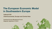 PRESENTATION: The European Economic Model...