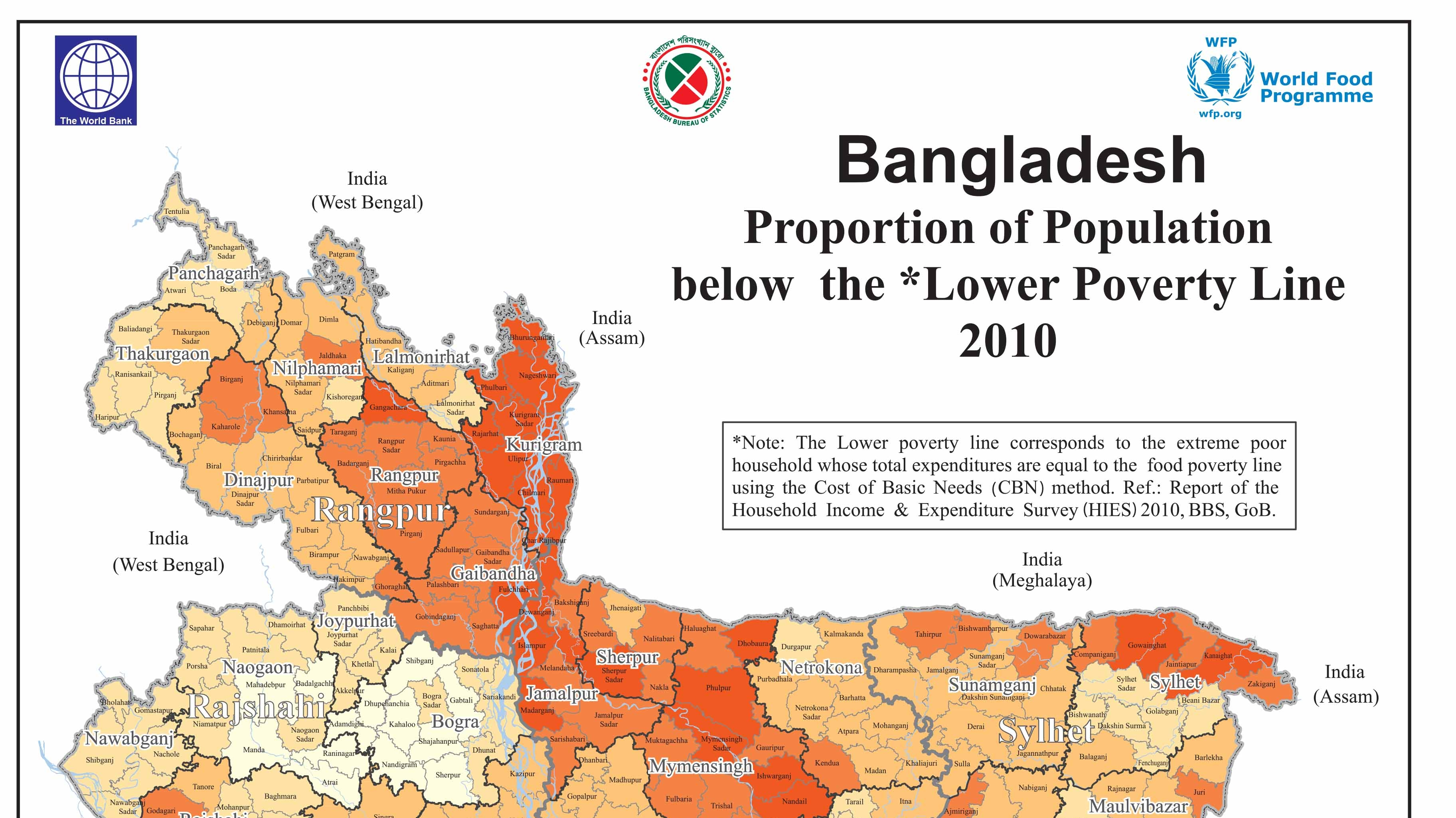 Latest Bangladesh Poverty Maps Launched - Most poverty stricken countries in the world
