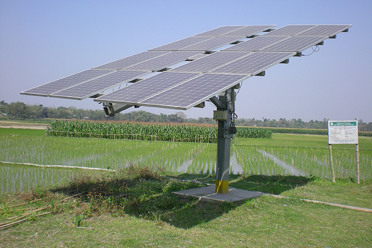 Solar Powered Pumps Reduce Irrigation Costs In Bangladesh