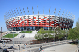 A view of the National Stadium in Warsaw, Poland, where the United Nations Climate Change Conference is held between November 11 and 22, 2013. - Photo: Tomasz Bidermann/Shutterstock