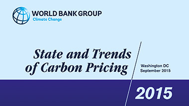 Cover of State and trends of carbon pricing 2015