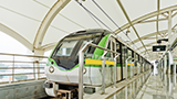 A light rail pulls up into a train station in Shanghai, China. - Photo: Shutterstock