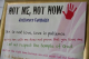 Not Me, Not Now sign from Botswana abstinence campaign to prevent HIV/AIDS