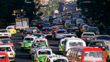 Traffic during peak time in Mexico City. - Photo: Curt Carnemark/World Bank