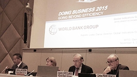 Doing Business 2015 Report presentation in Geneva at the World Trade Organization