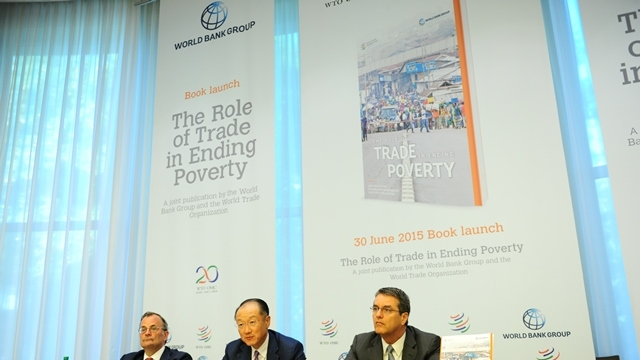 World Bank Group President, Jim Yong Kim and World Trade Organization Director-General Roberto Azevêdo, launch joint report: The Role of Trade in Ending Poverty