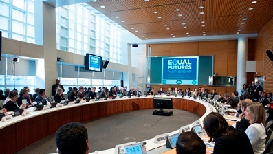 Equal Futures Partnership meeting at World Bank Headquarters