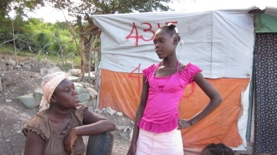 haiti camps family displaced women