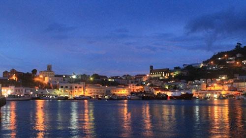 Nighttime in St George's, Grenada