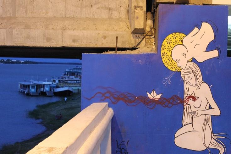 Mural às margens do Rio São Francisco, em Juazeiro (Bahia). Foto: Mariana Ceratti/Banco Mundial