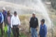 Peruvian farmers irrigating its crops.