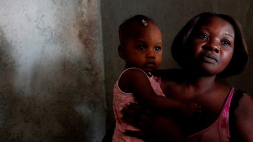A Haitian woman with a child