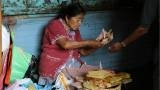 A woman sells tamales in Oaxaca.