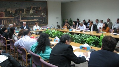 An all-staff and portfolio review meeting was held with Bank, IFC, and WSP colleagues