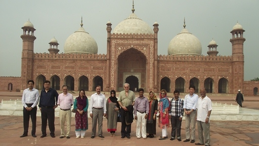 Lahore's Badshahi Mosque, built in 1671, holds up to 100,000 people