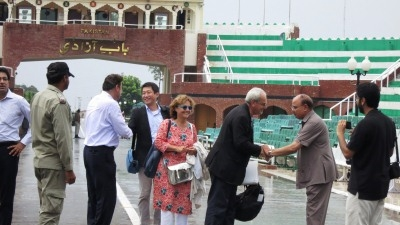 The Vice President ended his trip by crossing to India by foot at the Wagah border crossing