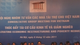 The annual CG meeting in December 2011 was chaired by the World Bank Vietnam's Country Dicrector and some Vietnamese government partners
