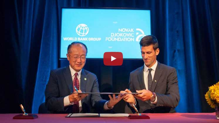 PabsyLive: Tennis Star Djokovic Teams Up With World Bank