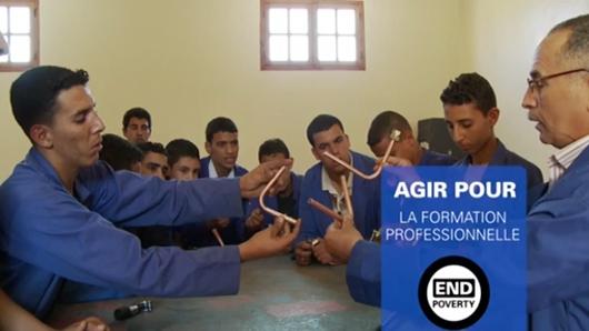 Agir pour la formation professionnelle au Maroc