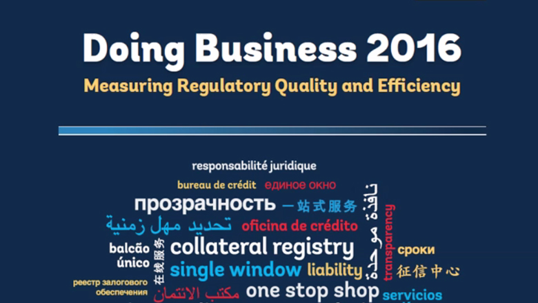 Doing Business 2016 – South Asia Findings