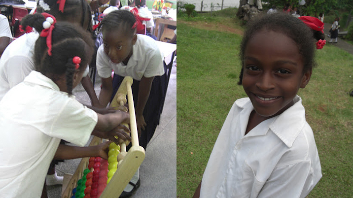 Students from St. Paul's Government School in Grenada