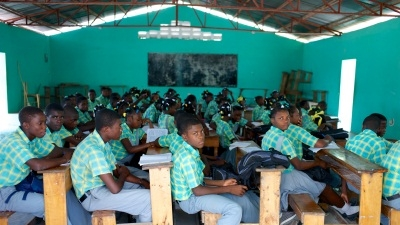 A school in Haiti