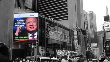 Action4Climate Takes Over Times Square