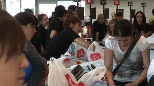 Shoppers in Chile