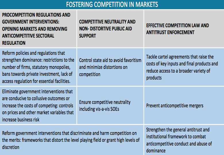 Markets and Competition Policy