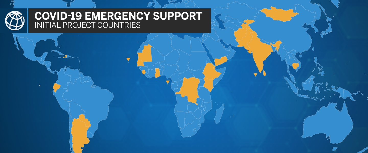 COVID-19 Emergncy Support. Initial Project Countries.
