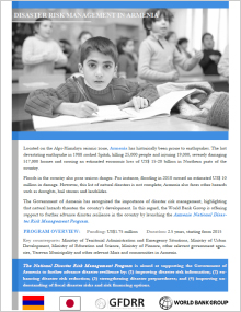 Armenia National Disaster Risk Management Program Leaflet