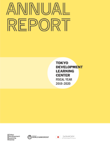 Report cover of TDLC Annual Report 2019-2020