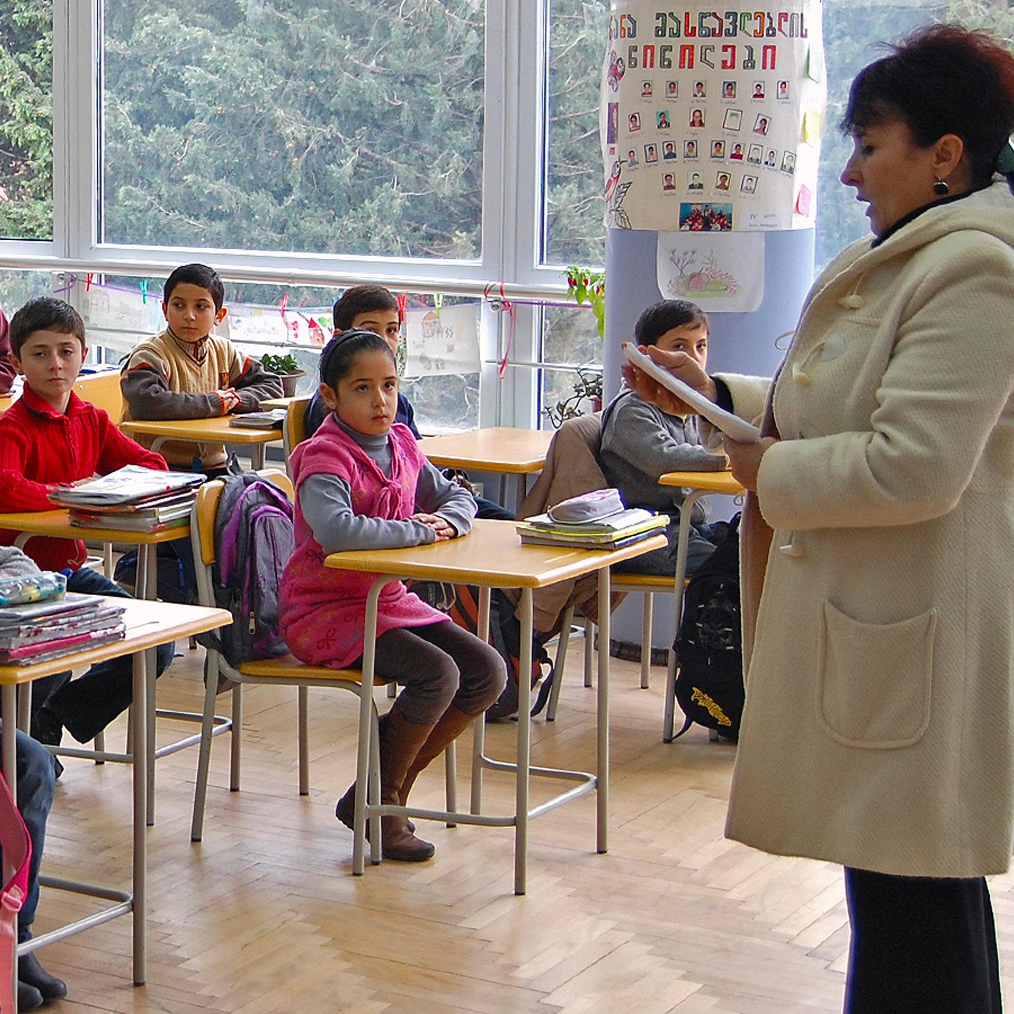 A school classroom in Georgia.