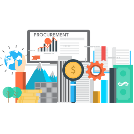 Graphic with elements of procurement process