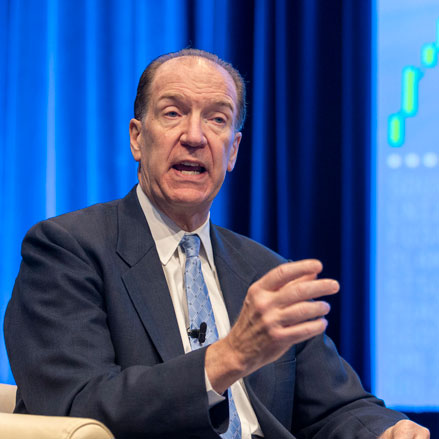 David Malpass speaking during the World Bank IMF 2019 Annual Meetings.
