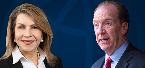 World Bank Chief Economist Carmen Reinhart and World Bank Group President David Malpass. © World Bank