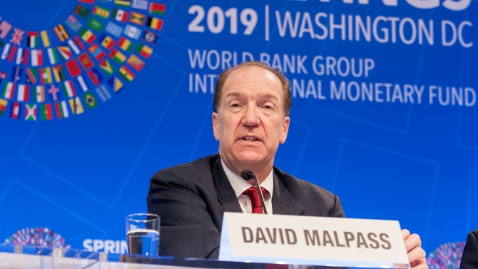 World Bank Group Opening Press Conference. David R. Malpass World Bank Group President. Photo: World Bank / Simone D. McCourtie