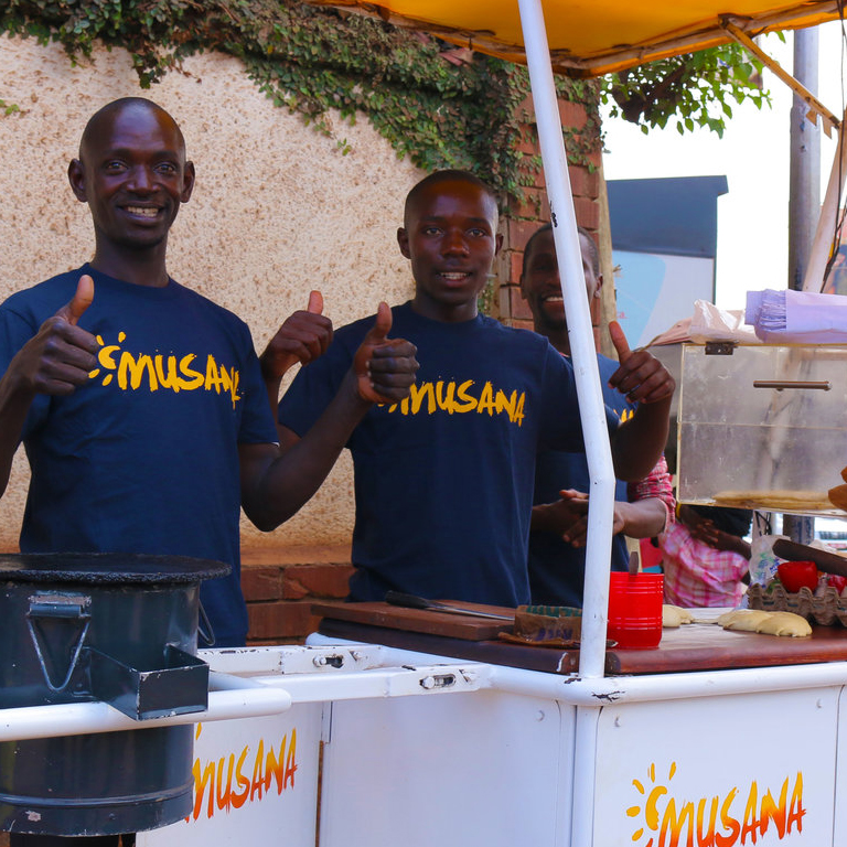 Musana Carts, a business that provides clean, solar-powered street vending carts, aims to improve the lives of street vendors in developing countries.