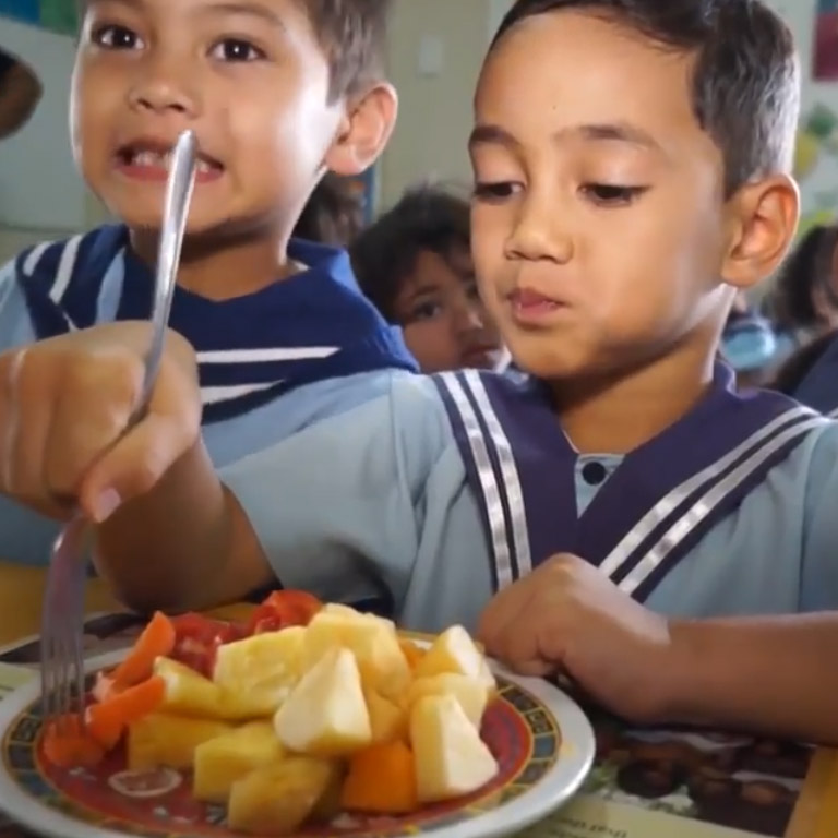 We're working with Samoa's Ministry of Health to improve nutrition and encourage kids to eat all the colors of the rainbow.