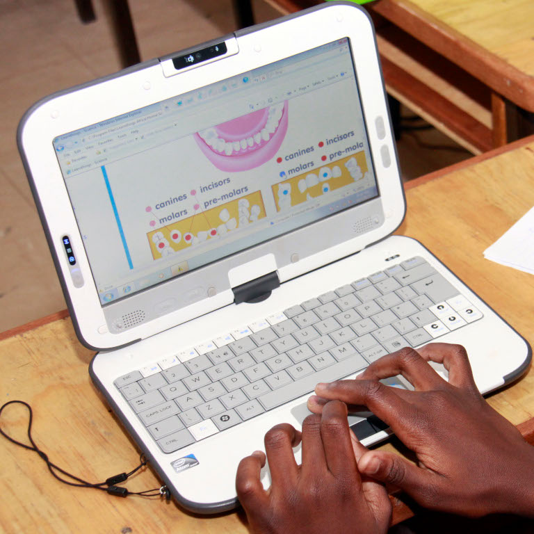 A Child user friendly laptop with educational materials for lower class level by Morgan Mbabazi